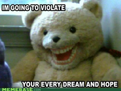 dentures,freaky,teddy bear,teeth