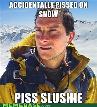 bear grylls piss slushie snow - 4525040896