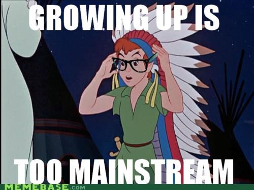 growing up,hipster-disney-friends,peter pan,so mainstream