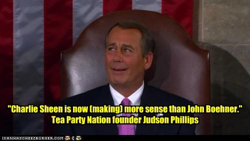 Charlie Sheen Congress crazy expression john boehner judson phillips sense speaker of the house tea party - 4525125888