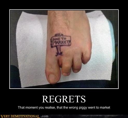 missing toe,piggy,regret,tattoo,wrong