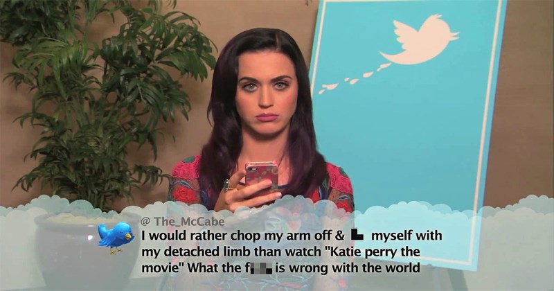 Funny mean tweets about celebrities.