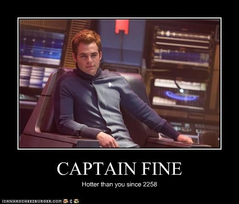 actor celeb chris pine demotivational funny sci fi Star Trek - 4525808640