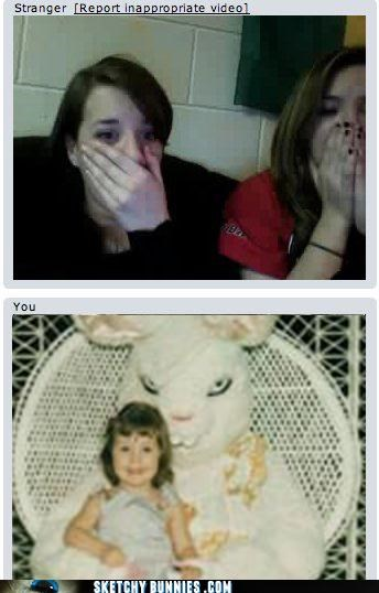 chatroulette creepy online sketchy bunnies 2.0 technology video chat - 4525953792