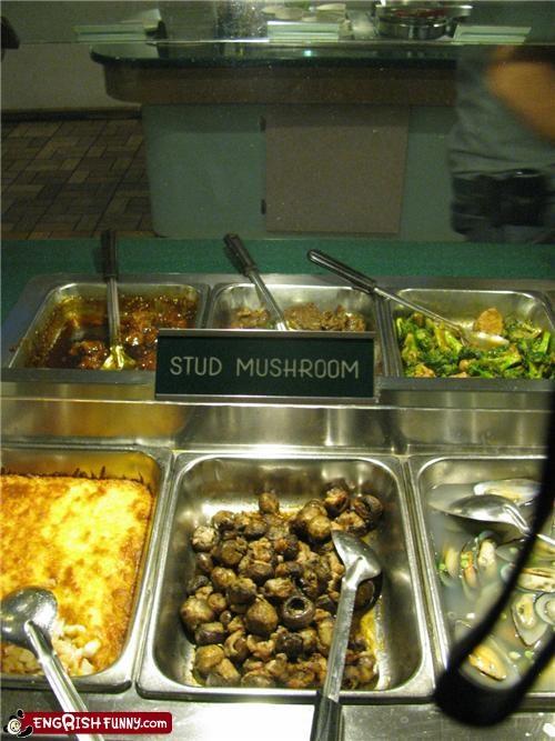buffet,mushroom,restaurant,sign