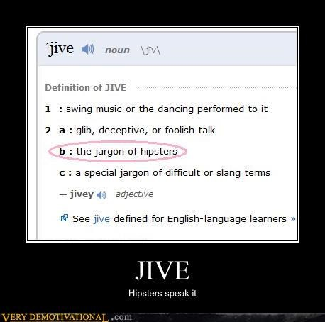 hipsters jive slang
