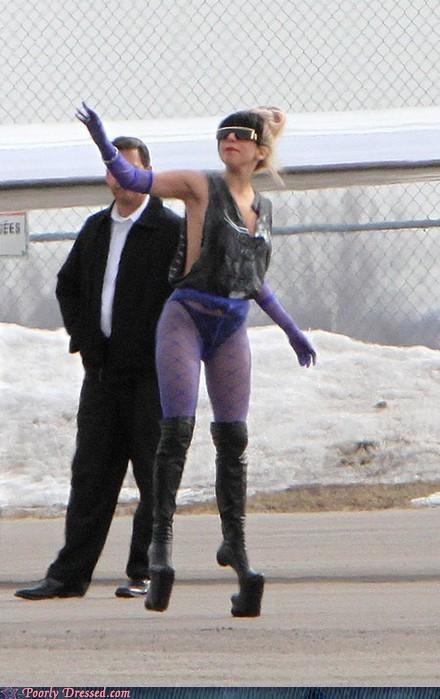 alien,heels,lady gaga,weird,wtf