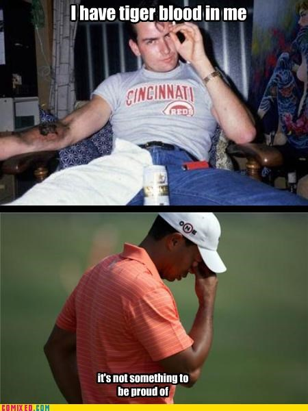 Charlie Sheen,drugs,Tiger Woods