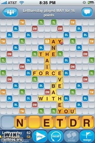 nerdgasm scrabble star wars wordplay