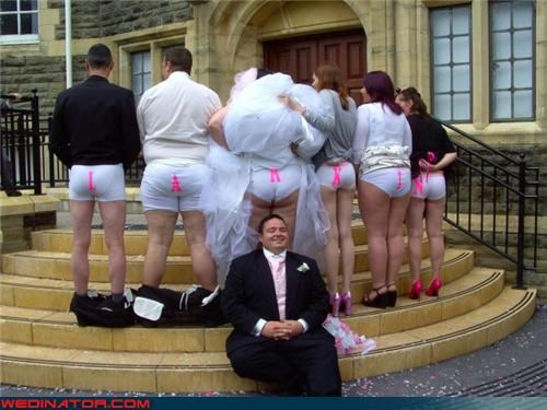 bride Funny Wedding Photo groom mooning moonlight wedding - 4527901440