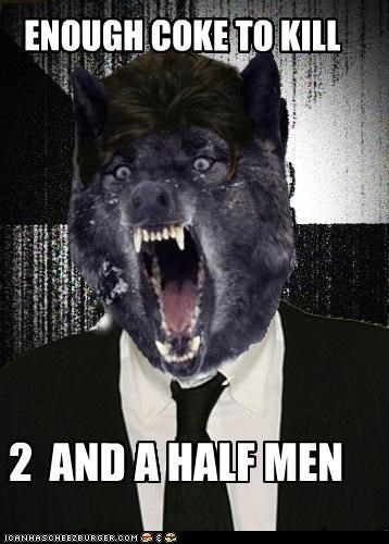 2 and a half men,coke,sheen wolf