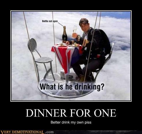 bear grylls dinner pee skydiving - 4528216064