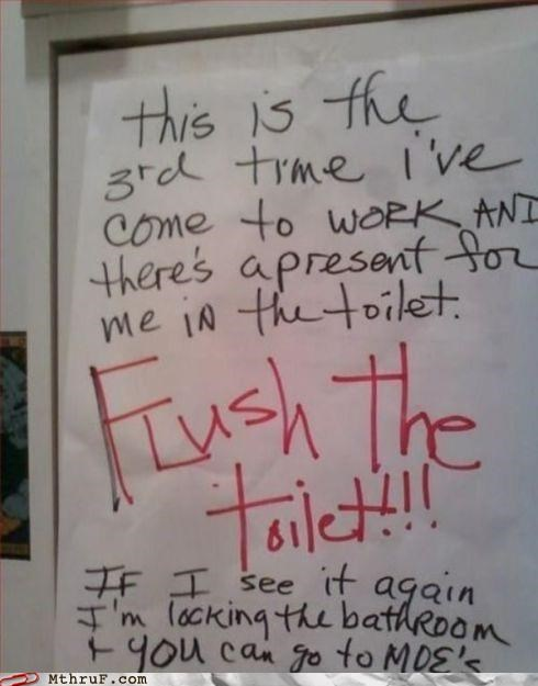 bathroom flush passive aggressive toilet - 4528775168