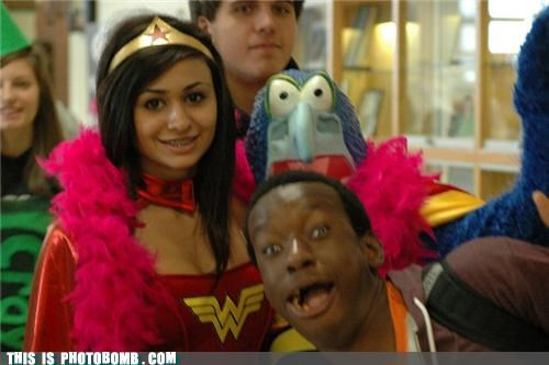 costume,gonzo,photobomb,wonder woman