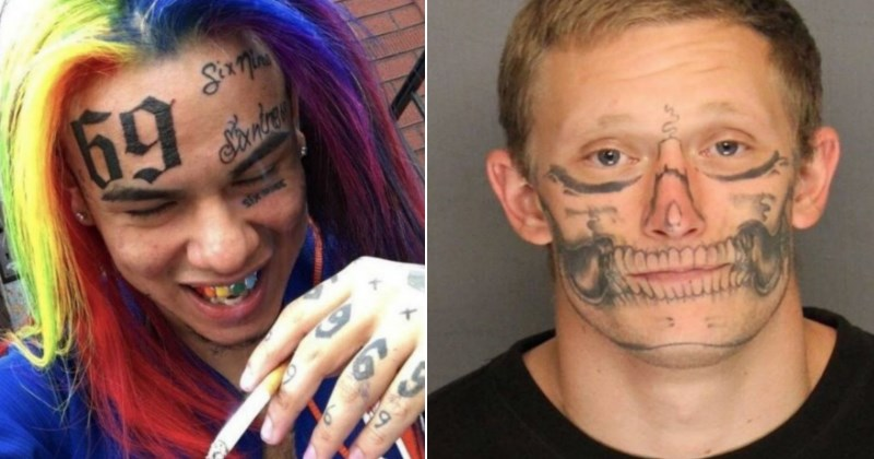 Unfortunately Planned Facial Tattoos That Will Freak You Out