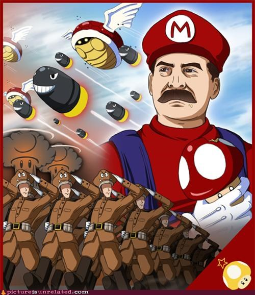 art cartoons mario russia stalin Videogames wtf - 4529434112