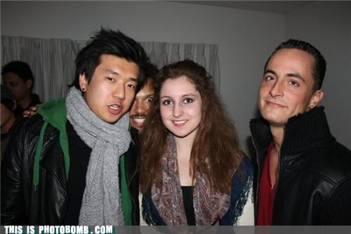 awesome face,mustache,photobomb,scarves