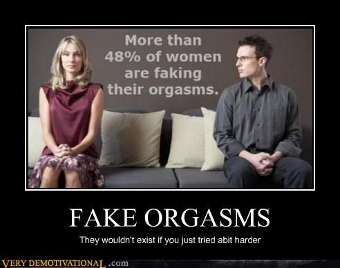 Male fake orgasm