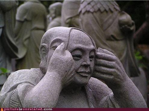 ace ventura when nature calls art statue wtf - 4530232320