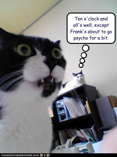 about alls-well caption captioned cat Cats caveat except Hall of Fame phrase psycho quote ten