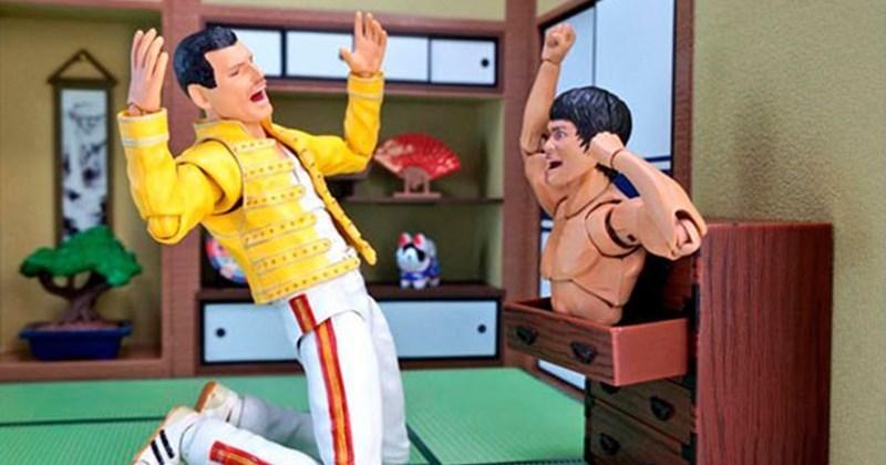 Fotos Freddy Mercury y Bruce Lee