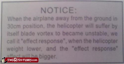 engrish helicopter instructions notice warning - 4530808320