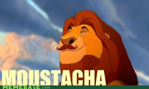 hipster ironic moustache lion king mustafa - 4530827264
