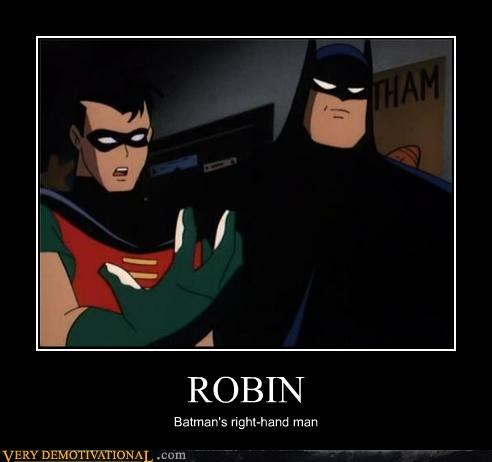 batman cartoons right hand robin - 4531020544