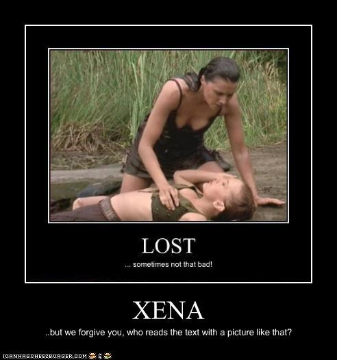 XENA ..but we forgive you, who reads the text with a picture like that?