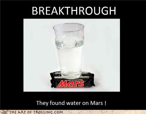 candy drinks IRL planets water on mars wordplay