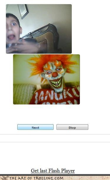 bangkok,Chat Roulette,clowns,kids,scary,the simpsons