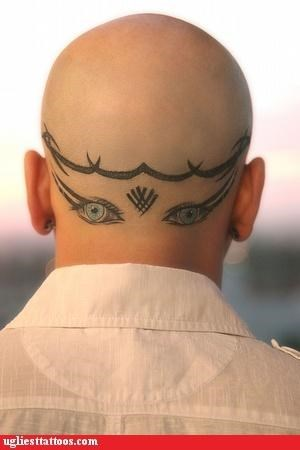 bad,head tattoos,tattoos,funny