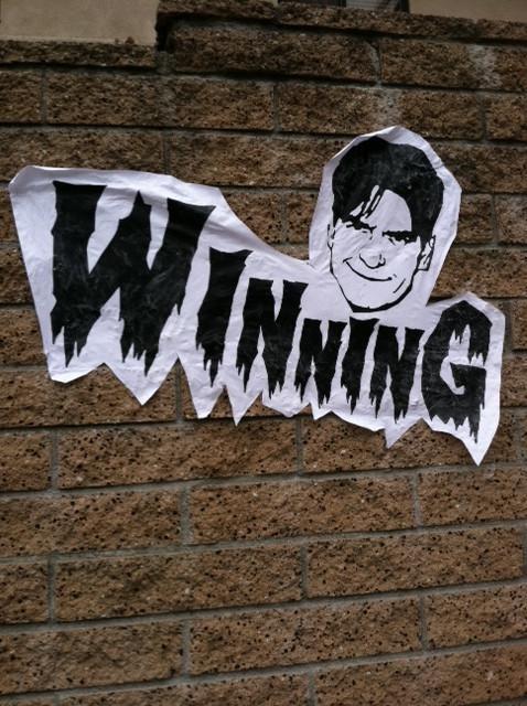 Charlie Sheen Meltdown Street Art - 4531379968