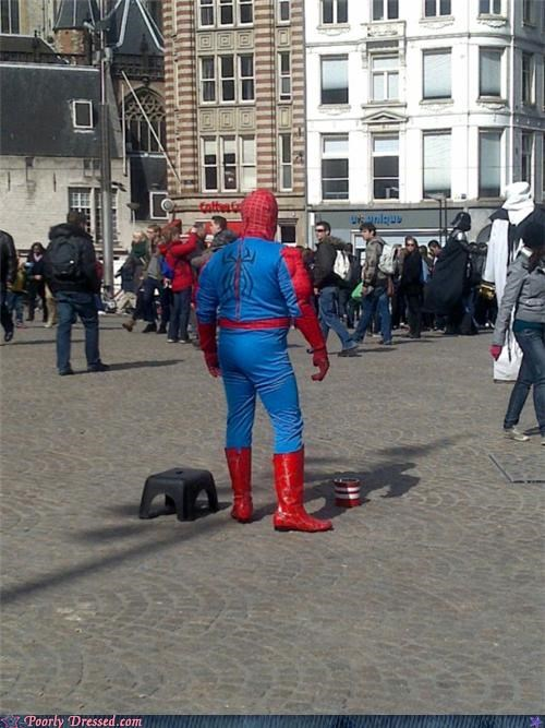 costume,europe,performer,Spider-Man,street,wtf