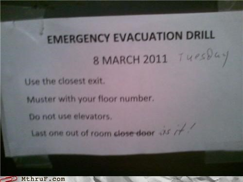 drill emergency evacuation fire it tuesday