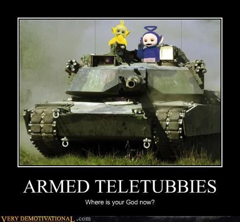 armed,bad idea,tank,teletubbies