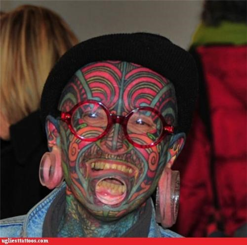 face tats full-body fail other bod mods piercings