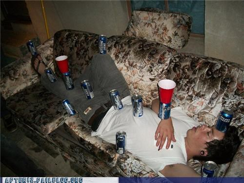beer can cups drunk passed out stacking - 4531922432