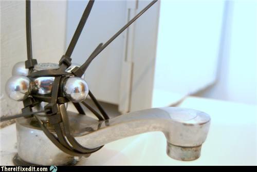faucet plumber sink tied zip ties - 4531939840