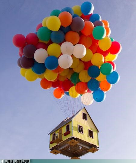 Balloons,house,IRL,Movie,pixar,up