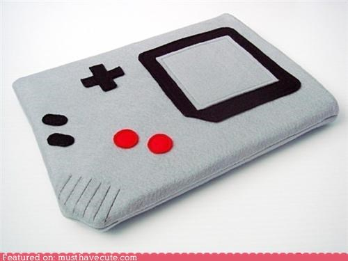 accessoriy cover electronics felt gameboy gamer geeky ipad - 4532349952
