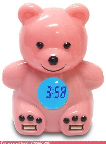 bear,clock,usb hub