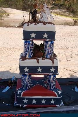 beer cake,budweiser cake,funny wedding photos,redneck,wedding cake