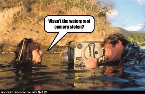 Wasn't the waterproof camera stolen?