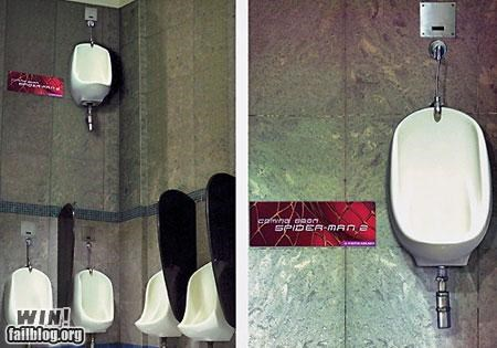 advertising bathroom movie reference Spider-Man - 4532785408
