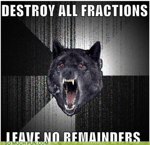 Command fractions Insanity Wolf meme remainder statement - 4533129728