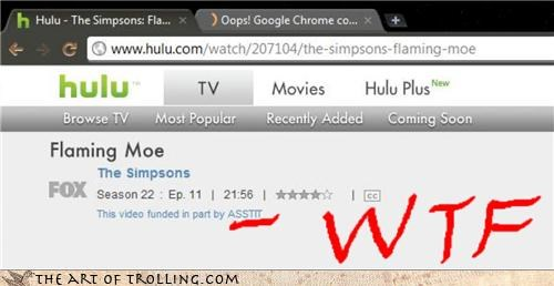 hulu ill-use-your-title-for-now-op-but-you-can-do-better its-a-thing sponsor the simpsons wtf - 4533400576