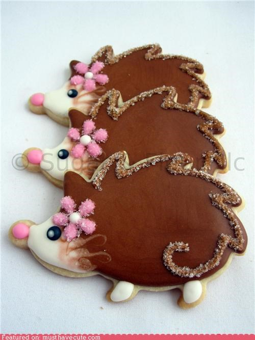 cookies epicute hairdos hedgehogs icing - 4533620480