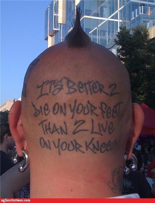 mohawks head tattoos funny - 4533685248