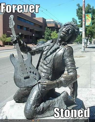 celeb funny jimi hendrix monument Music statue - 4533738752